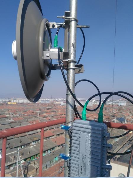 无线微波传输设备应用于山西大同调频广播传输