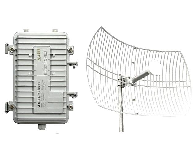 30公里无线监1控方案企业级无线微波传输